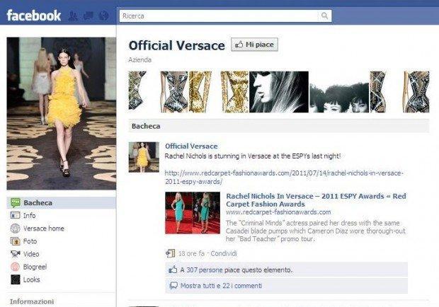 Versace, proteste su Facebook. E il brand chiude la bacheca