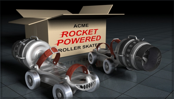 Rocket Powered Roller Skate