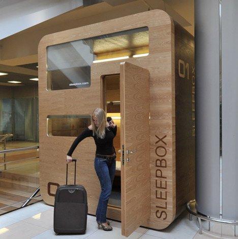 Sleepbox, ovvero il riposino mentre sei in aeroporto