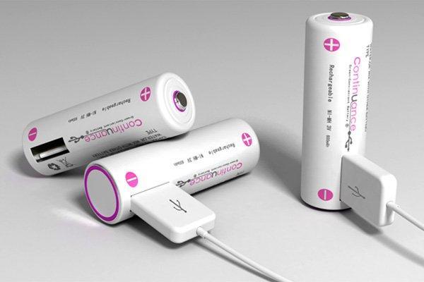 """Batterie con uscita usb: l'idea """"Continuance"""""""