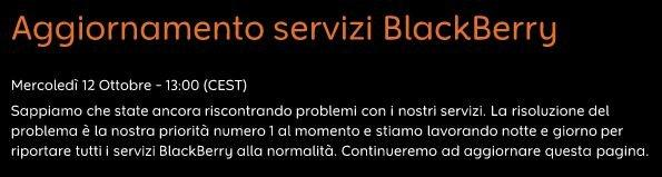 Aggiornamento BlackBerry