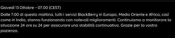 BlackBerry Aggiornamento