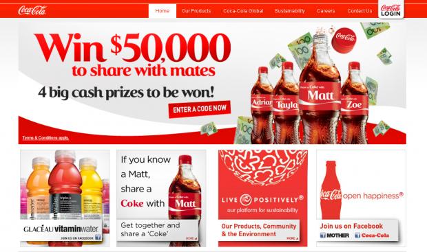 Condividi una lattina Coca-Cola con il tuo nome e vinci 50.000 $