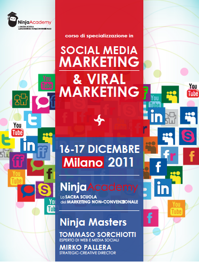 "Milano, 16-17 dicembre: Corso in ""Social Media & Viral Marketing"" #ninjacademy"