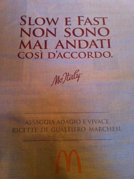 Il marketing che non vogliamo: Gualtiero Marchesi e McDonald's