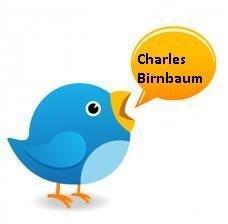 Fai una domanda a Charles Birnbaum con Twitter