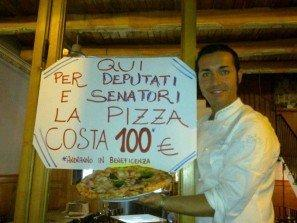 Pizza a 100 euro per i deputati e il viral DNA: #occupyfood