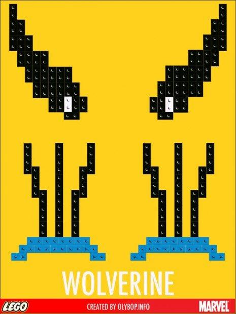 Lego e supereroi nei poster minimalisti di Olybop