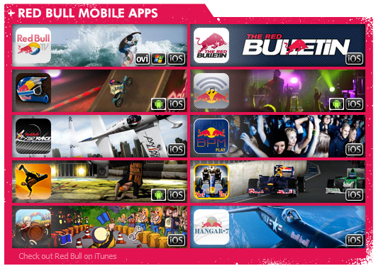 10 mobile apps da Red Bull