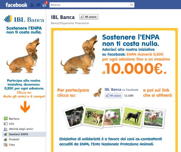IBL aiuta gli amici a 4 zampe grazie ad una campagna su Facebook
