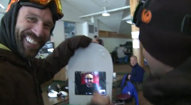 Uno snowboard con iPad? Si può con iShred!