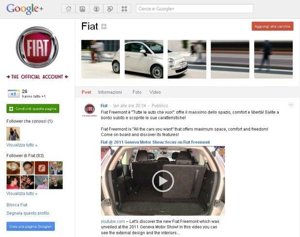 I brand italiani tra i primi sulle Google+ Pages