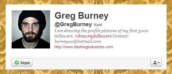 Greg Burney e il suo personal guerrilla branding: #drawmyfollowers