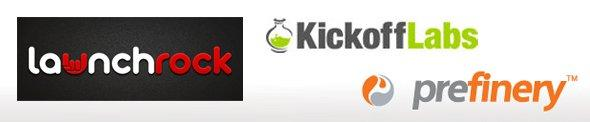 LaunchRock, Kickofflabs, Prefinery