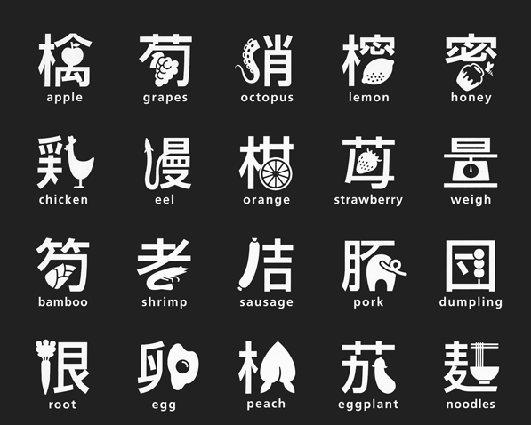 Gli ideogrammi giapponesi ridisegnati da Masaaki Hiromura