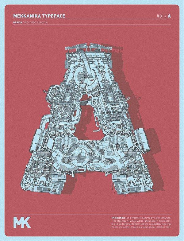 Mekkanika: font steampunk e visionario di Riccardo Sabatini [INTERVISTA]