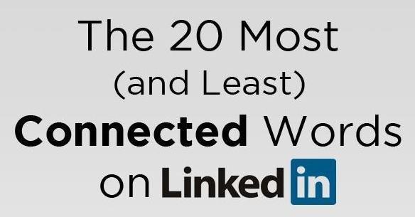 Le 20 parole più e meno connesse su LinkedIn [INFOGRAFICA]