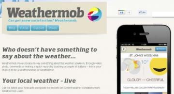 Weathermob l'app per iPhone che rende le previsioni del tempo social.