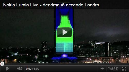 Nokia Lumia e deadmau5, l'ultima spettacolare proiezione in 4D