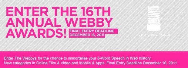 Webby awards: ancora poche ore per iscriversi e provare ad entrare nella storia del Web [EVENTO]