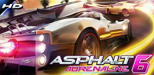 I migliori giochi per Android tablet: Asphalt 6 Adrenaline HD