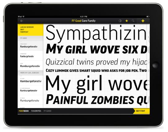 FontBook: i migliori font sul tuo iPad in un'app [NINJA REVIEW]