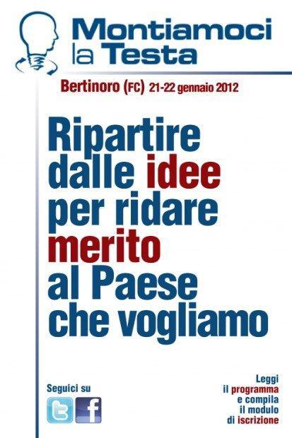 """""""Montiamoci la Testa"""": il 21 e il 22 gennaio incontriamo la democrazia a Bertinoro! [EVENTO]"""