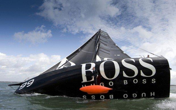 Una passeggiata sulla chiglia della vela Hugo Boss