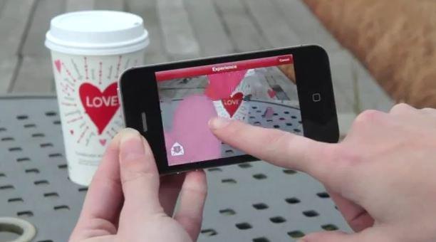 Starbucks e la realtà aumentata per S. Valentino