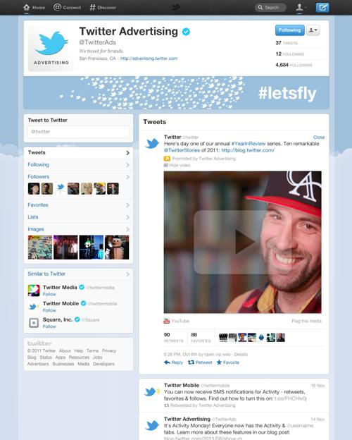 Twitter: alcuni esempi delle nuove brand page