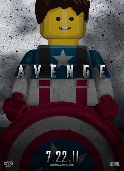 Locandine dei film cult in versione Lego