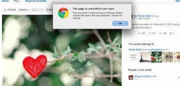 Flickr VS Pinterest: introdotto il codice NOPIN per i contenuti protetti da copyright