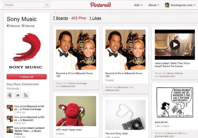 10 esempi internazionali di brand page su Pinterest