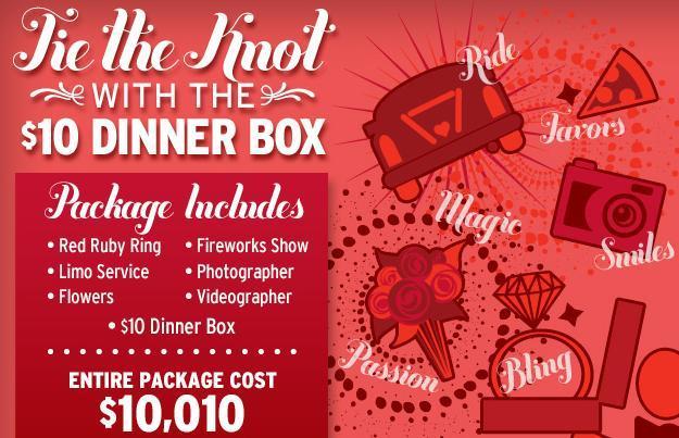 San Valentino, con Pizza Hut una proposta di matrimonio da 10,000 dollari!