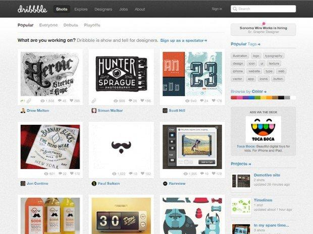 5 Social networks per Web designers