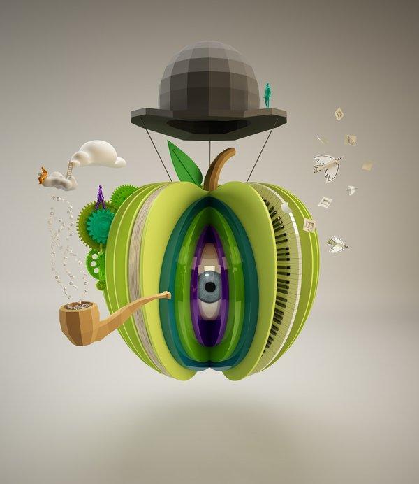 Benjamin Simon: il graphic design in 3D