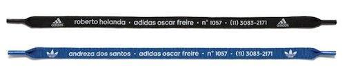 Adidas: i biglietti da visita diventano lacci per le scarpe!
