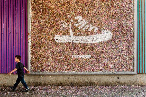 Converse, street art per promuovere la nuova collezione