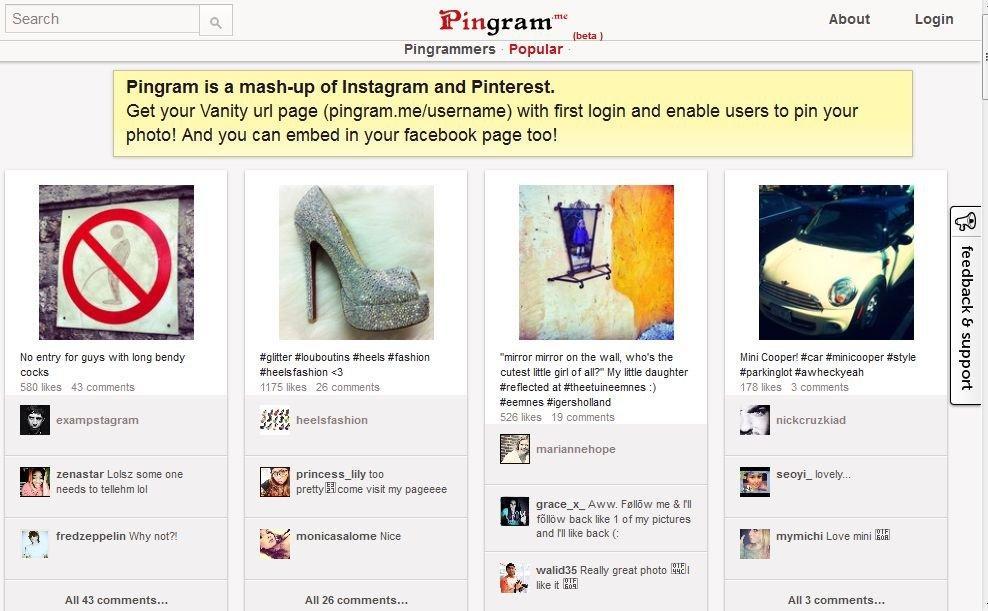 Appassionati di Pinterest e Instagram? Ecco a voi Pingram.me!