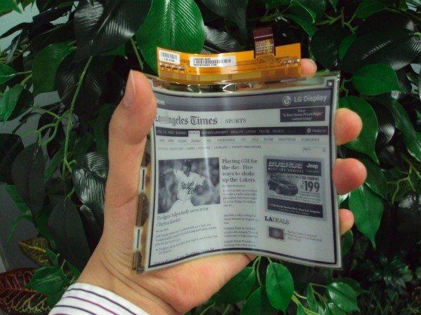 LG pronta al lancio dell'e-reader con display flessibile