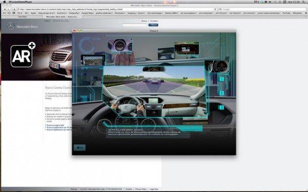 La nuova Mercedes Classe E in realtà aumentata