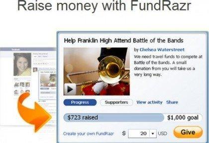 Le 8 migliori App per le nuove Timeline di Facebook: FundRazr