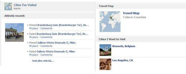 Le 8 migliori App per le nuove Timeline di Facebook: Cities I've Visited