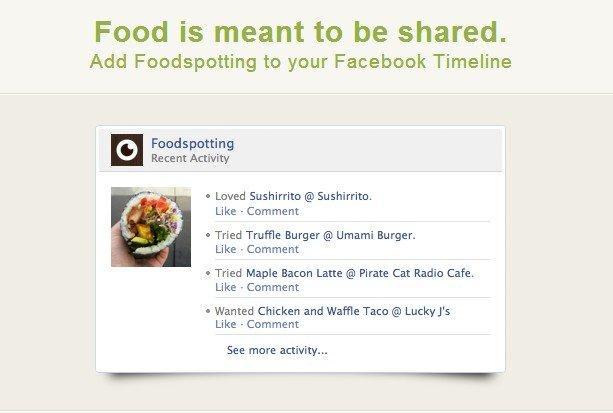 Le 8 migliori App per le nuove Timeline di Facebook: Foodspotting