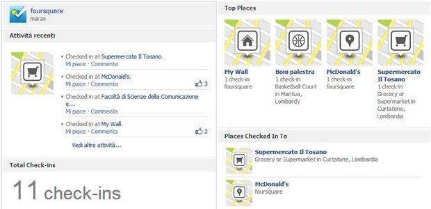 Le 8 migliori App per le nuove Timeline di Facebook: Foursquare