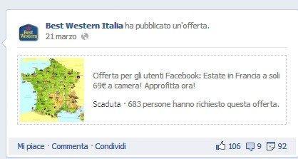 Opportunità e Minacce delle Facebook Offers: ecco Best Western Italia