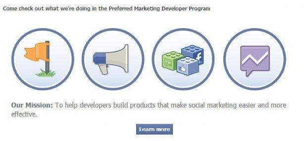 Facebook lancia Preferred Marketing Developer, il nuovo programma per sviluppatori