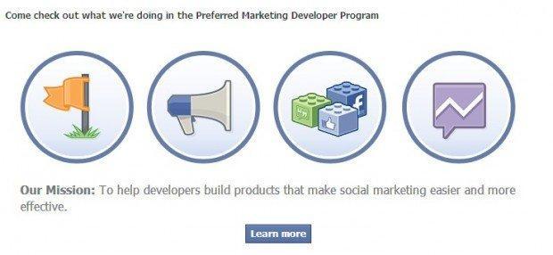 Preferred marketing developer facebook