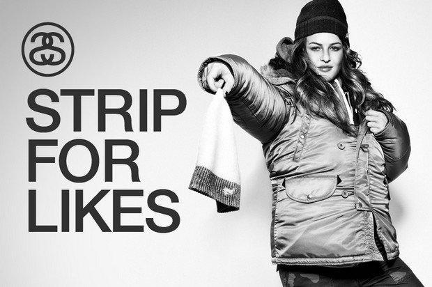 Strip for Likes, l'idea hot di Stüssy Amsterdam per i Facebook fan