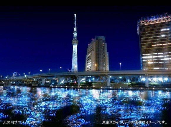 100.000 luci galleggianti a energia solare per il Tokyo Hotaru 2012